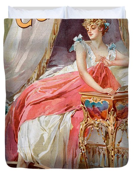Advertisement For Pears Soap Duvet Cover by English School