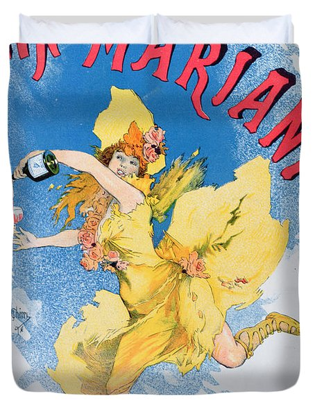 Advertisement For Vin Mariani From Theatre Magazine Duvet Cover by English School