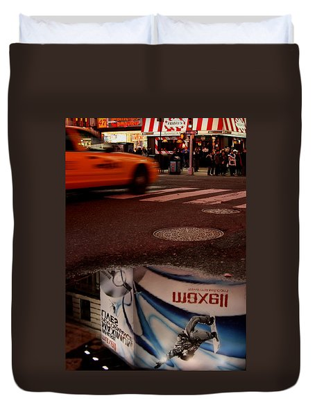 Advertising Puddles Duvet Cover by Karol Livote