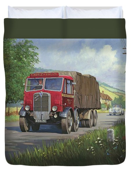 Aec Mammoth Major In Devon Duvet Cover