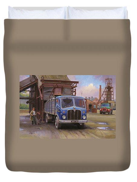Aec Mercury Tipper. Duvet Cover