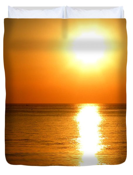 Aegean Sunset Duvet Cover