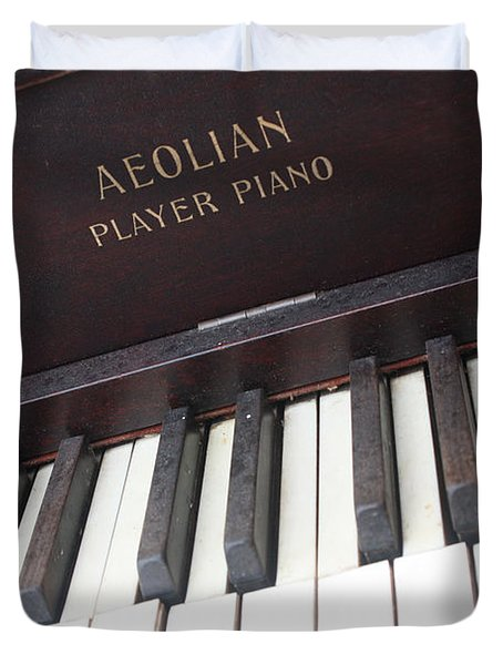 Aeolian Player Piano-3484 Duvet Cover by Gary Gingrich Galleries
