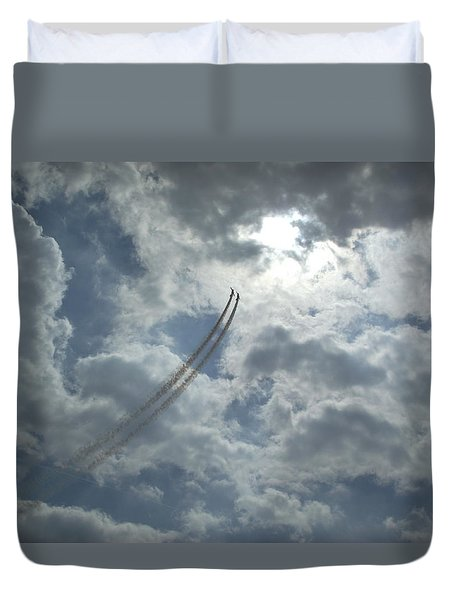 Aerial Display 2 Duvet Cover