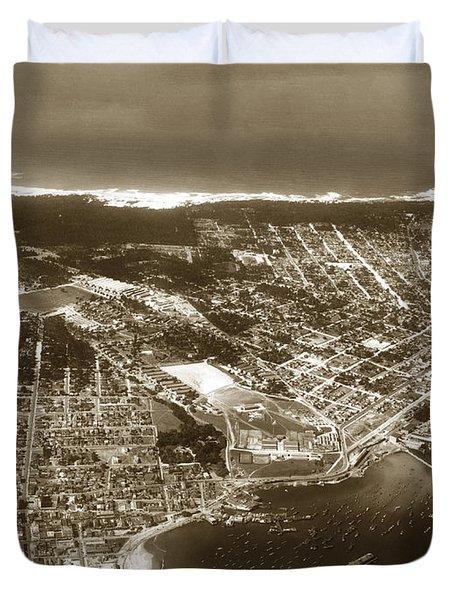 Aerial  Of Monterey Calif. Oct. 25 1934 Duvet Cover