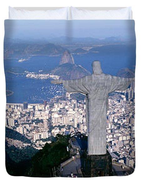 Aerial, Rio De Janeiro, Brazil Duvet Cover