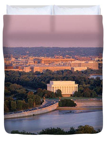 Aerial, Washington Dc, District Of Duvet Cover