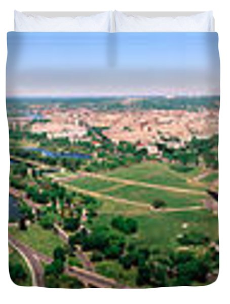 Aerial Washington Dc Usa Duvet Cover