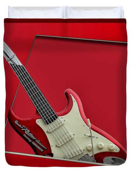 Aerosmith Rockn Roller Guitar Duvet Cover by Thomas Woolworth