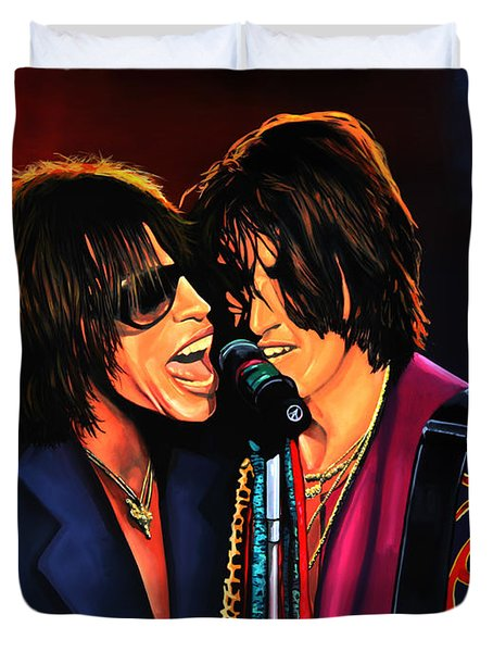 Aerosmith Toxic Twins Painting Duvet Cover