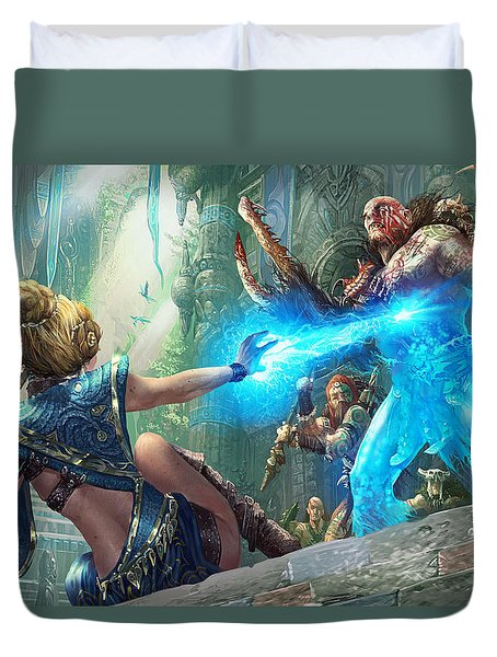 Aetherize Duvet Cover by Ryan Barger