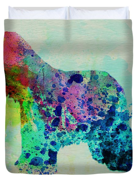 Afghan Hound Watercolor Duvet Cover by Naxart Studio