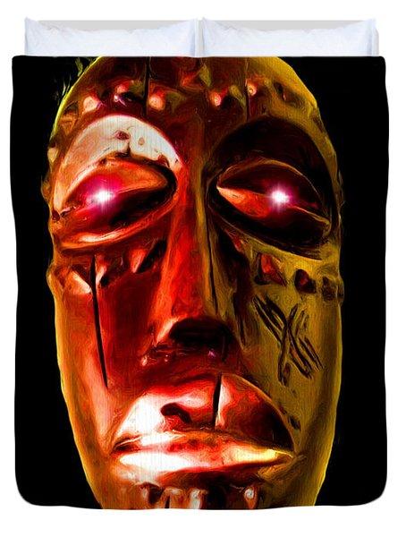 Duvet Cover featuring the digital art Africa by Daniel Janda