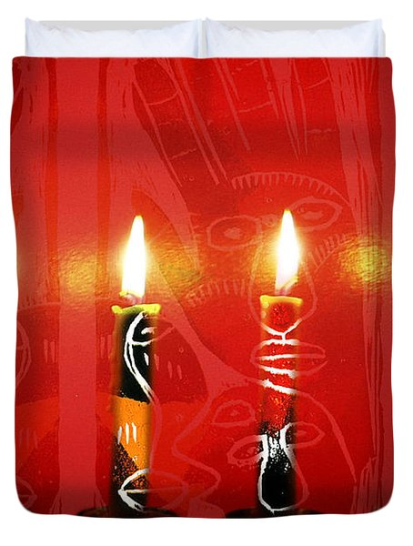 African Candles Duvet Cover
