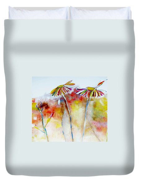 African Daisy Abstract Duvet Cover