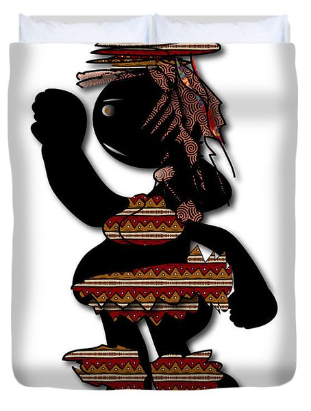 Duvet Cover featuring the digital art African Dancer 7 by Marvin Blaine