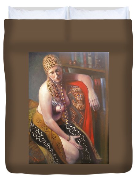 Duvet Cover featuring the painting African Drum #2 by Donelli  DiMaria