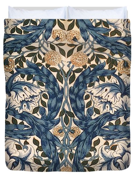 African Marigold Design Duvet Cover by William Morris