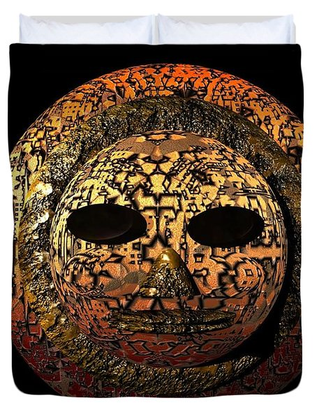 African Mask Series 1 Duvet Cover