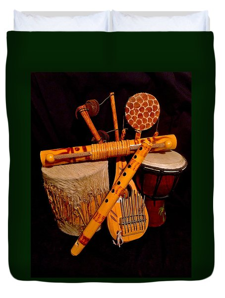 African Musical Instruments Duvet Cover