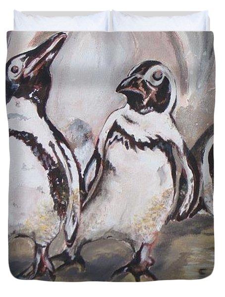 African Penguin Duvet Cover