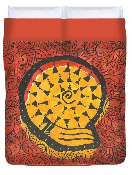 African Shell Pattern Duvet Cover