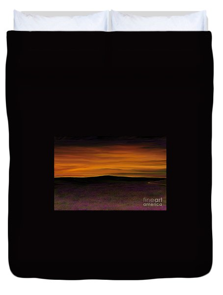 Duvet Cover featuring the painting African Sky by Rand Herron