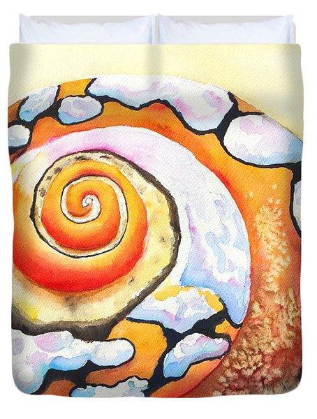 African Turbo Shell Duvet Cover