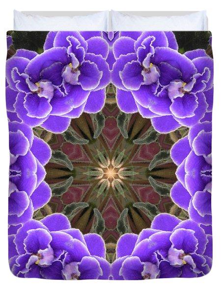 African Violet Mandala Duvet Cover