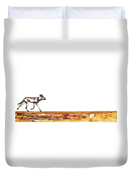 Endangered African Wild Dog - Original Artwork Duvet Cover
