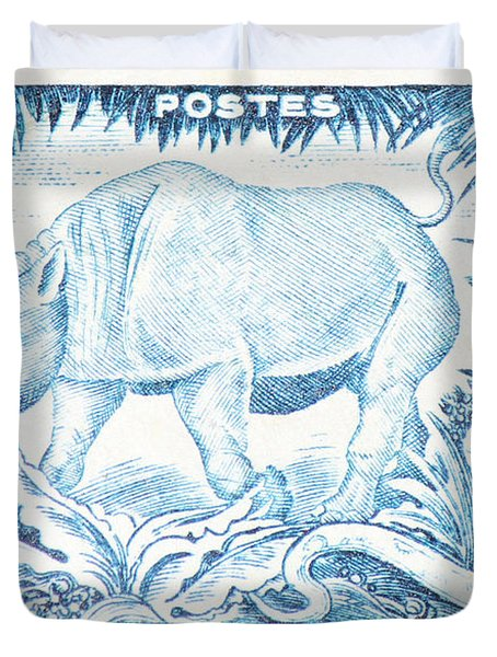 Afrique Rhino Duvet Cover