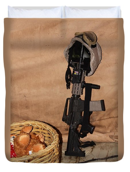 After A Hard Day In Combat Duvet Cover by Shoal Hollingsworth