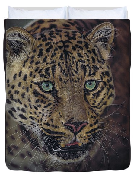 After Dark All Cats Are Leopards Duvet Cover