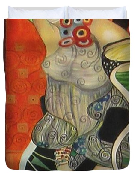 After Gustav Klimt Duvet Cover