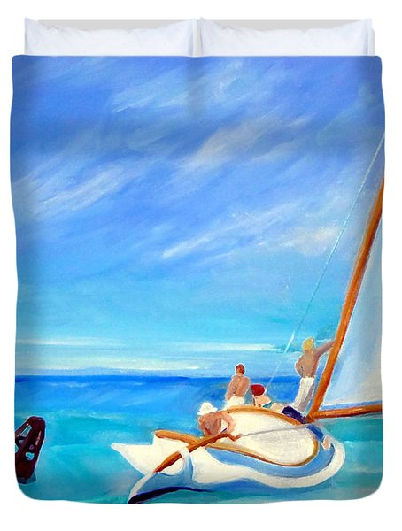 After Hopper- Sailing Duvet Cover