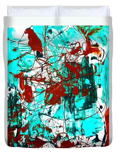 After Pollock Duvet Cover by Genevieve Esson