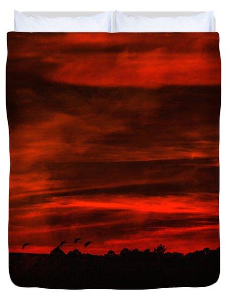 After Sunset Sky Duvet Cover