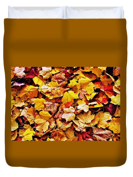 Duvet Cover featuring the photograph After The Fall by Daniel Thompson