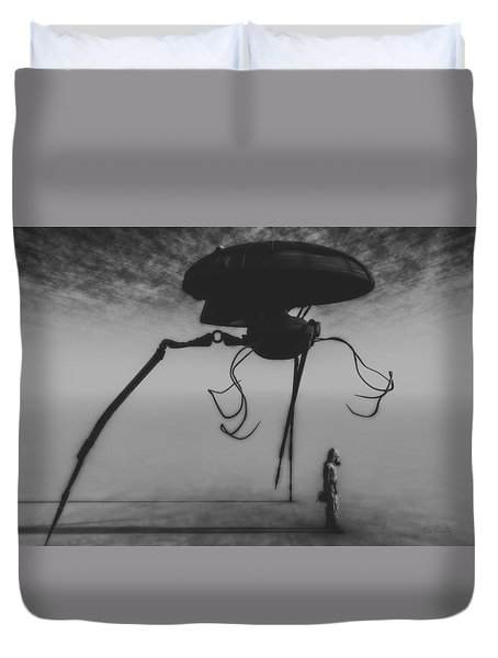 After The Invasion Duvet Cover by Bob Orsillo
