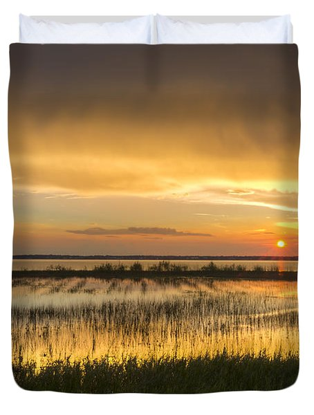 After The Rain Duvet Cover by Debra and Dave Vanderlaan