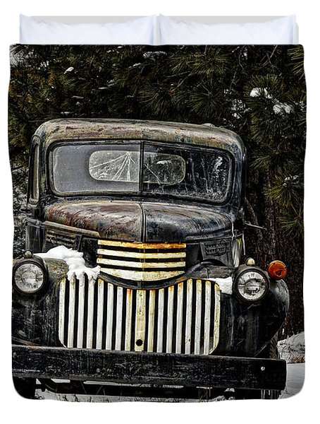 After The Snow Falls Duvet Cover by Ken Smith