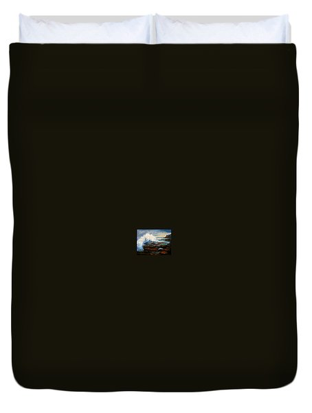 Duvet Cover featuring the painting After The Storm by Gail Kirtz