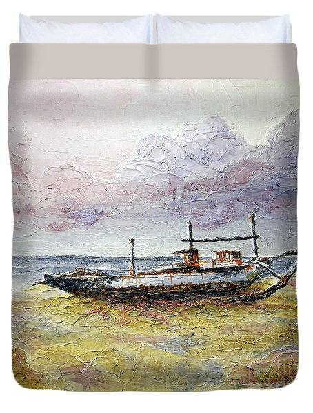 Duvet Cover featuring the painting After The Storm by Joey Agbayani