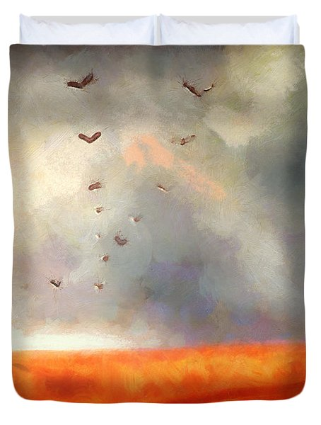 After The Storm Duvet Cover by Pixel Chimp