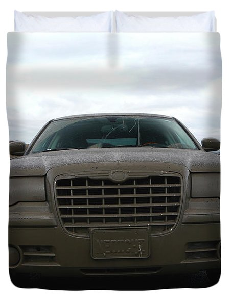 Aftermath Of The Mud Flood And Suddenly Things Went Dark Duvet Cover by Lon Casler Bixby