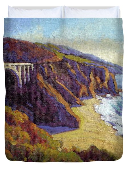 Afternoon Glow 3 Big Sur Duvet Cover