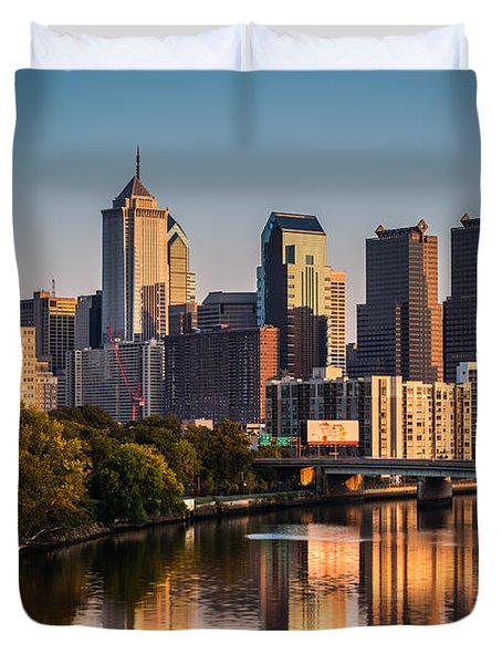 Afternoon In Philly Duvet Cover