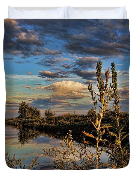 Late Afternoon In The Mead Wildlife Area Duvet Cover