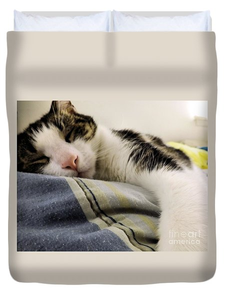 Duvet Cover featuring the photograph Afternoon Nap by Robyn King