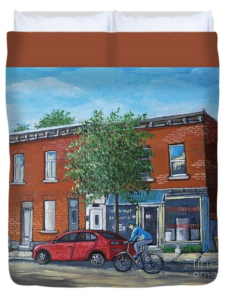 Afternoon Ride Pointe St Charles Duvet Cover by Reb Frost